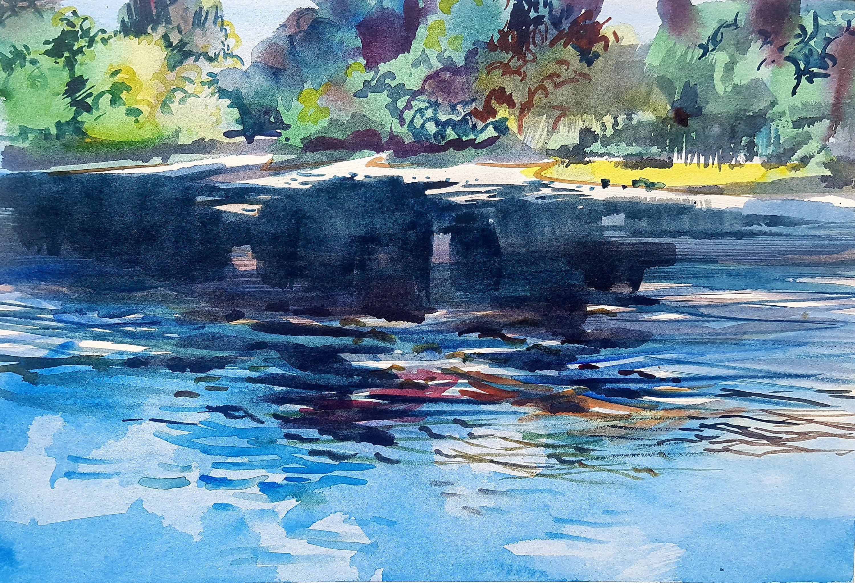 Eyeworth Pond by Kirstin White