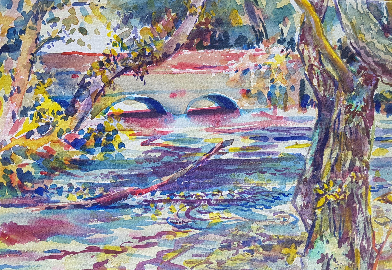 Brambridge, a watercolour by Kirstin White